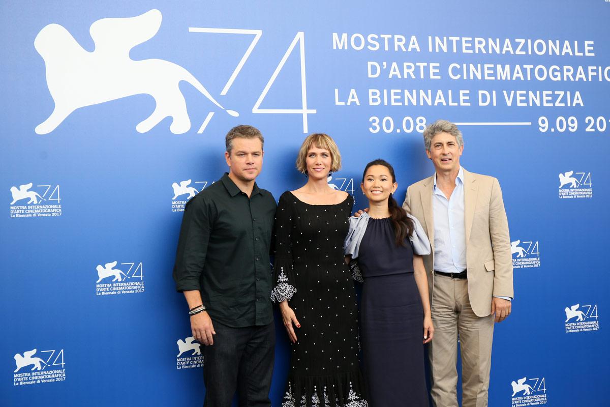 UNA VIDA A LO GRANDE - Alexander Payne, Matt Damon, Christoph Waltz, Hong Chau en el Festival de venecia