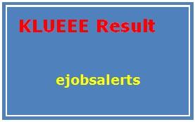 KLUEEE Result 2017
