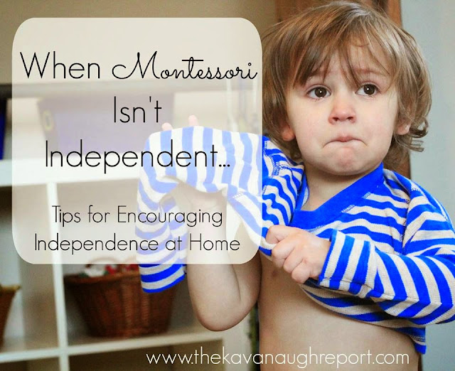 5 things to consider if your child is struggling with independence. Here are some Montessori thoughts on how to encourage independence at home.