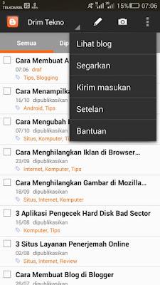 menu di app blogger
