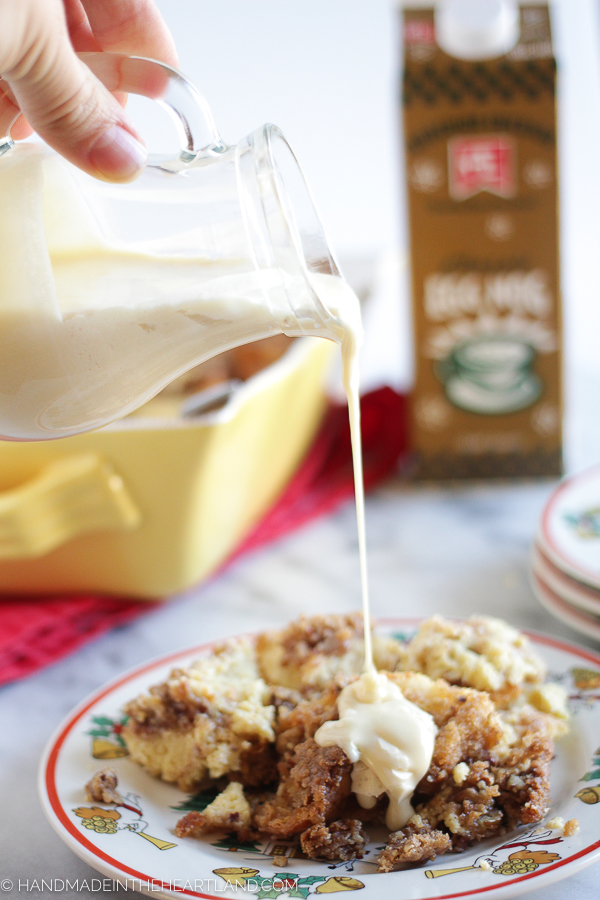 how to make egg nog french toast casserole