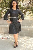 Telugu Actress Pavani Latest Pos in Black Short Dress at Smile Pictures Production No 1 Movie Opening  0194.JPG