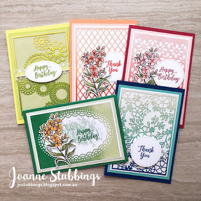 Jo's Stamping Spot - ESAD 2018 Annual Catalogue Launch Blog Hop using 2018-2020 In Colors and Delightfully Detailed DSP by Stampin' Up!