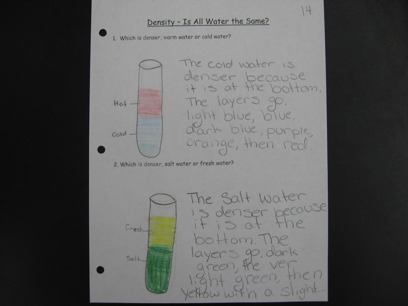 Mr Williams 6th Grade Science Blog Density