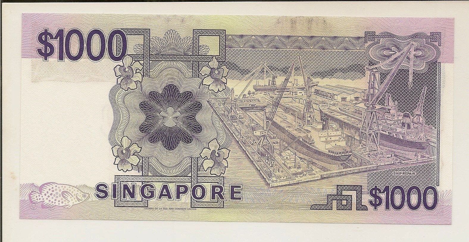 1000 Singapore dollar bill Ship Series