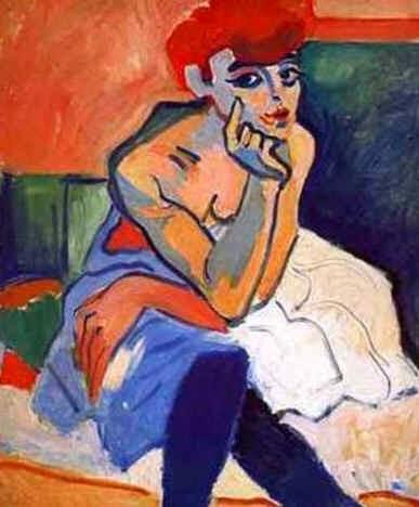A Dançarina - André Derain e suas principais pinturas ~ (Fauvismo) Francês
