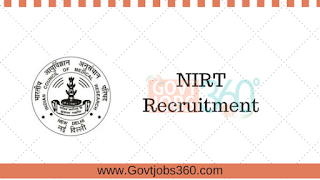 NIRT Recruitment 2017 for 09 Scientist & DOTS Treatment Supporters  Posts