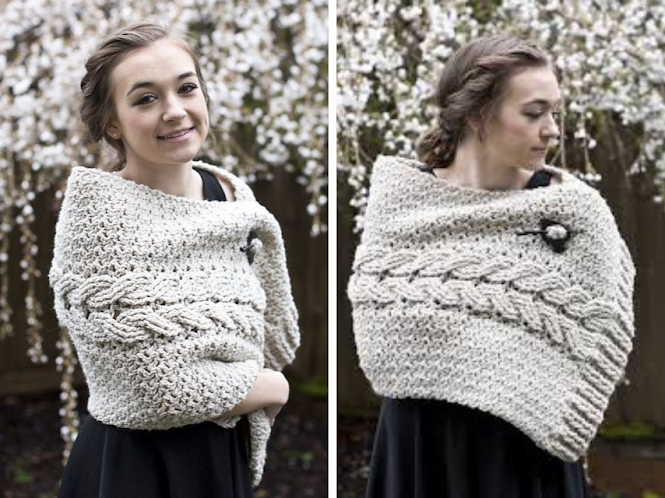 Beautiful Crochet Cable Projects: Cabled Wrap