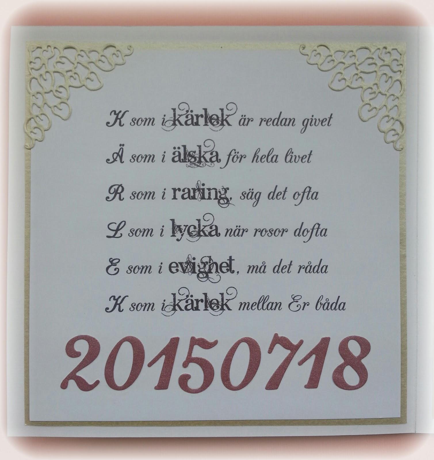 text bröllopskort till brudparet