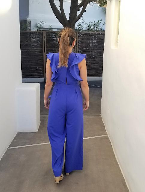 Blue Jumpsuit Back