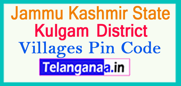 Kulgam District Pin Codes in Jammu Kashmir State