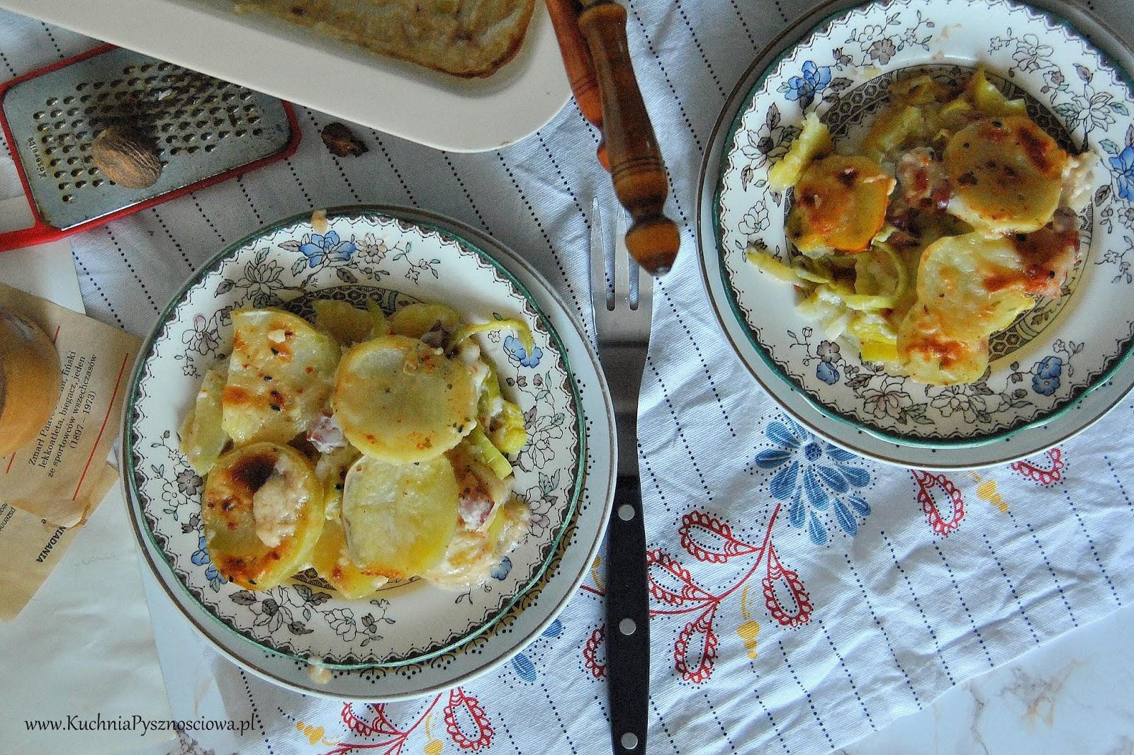 648. Zapiekanka z ziemniaków i porów
