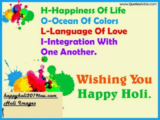 New And Colourful Happy Holi Images 2019