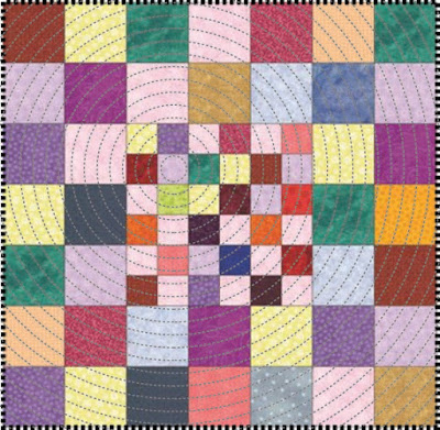 Free scrap quilt pattern with post