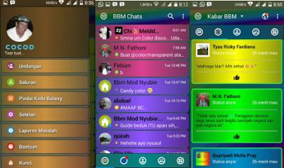 Download BBM Mod Disco v3.3.0.16 full Color Picture Apk