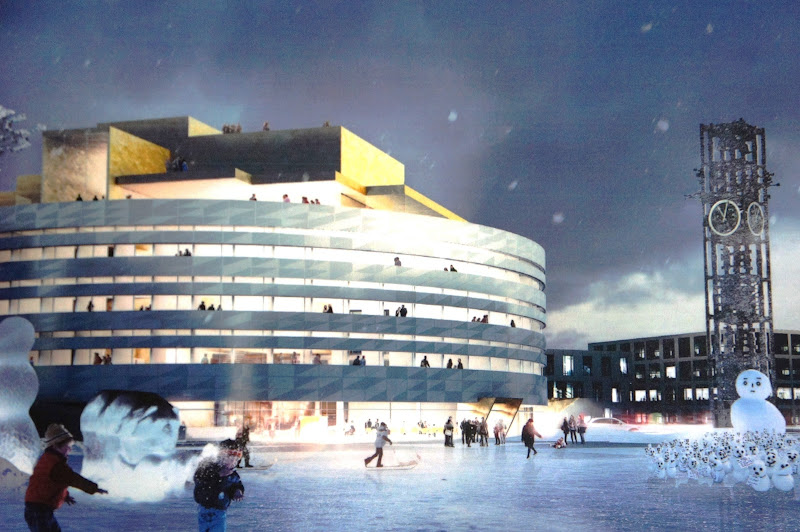 Plans for New City Hall Kiruna Sweden