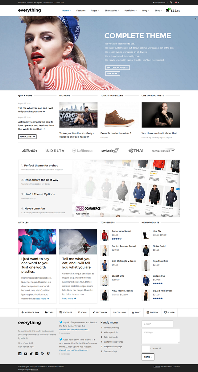 Everything Responsive WordPress Theme