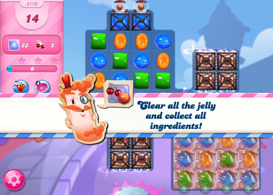 Candy Crush Saga level 3110