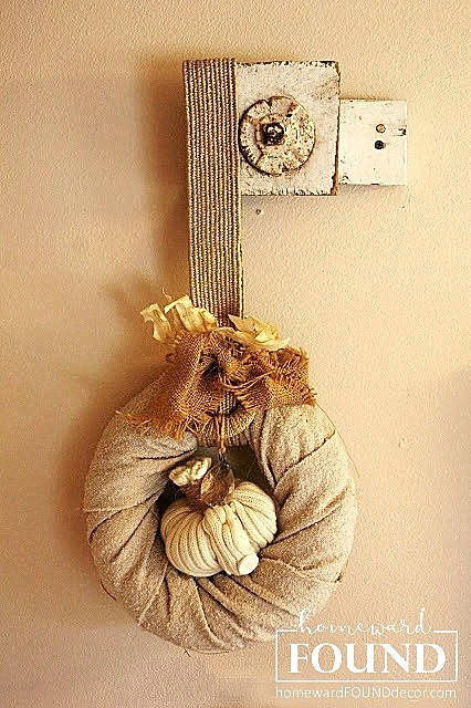 Better Homes & Gardens Magazine, concrete pumpkins, crafting, DIY, dollar store crafts, Romantic Homes Magazine, thrifted, Sweet Sweater Pumpkins, re-purposing, pumpkins, Inspired by Charm, HOMEtalk, homewardFOUND decor