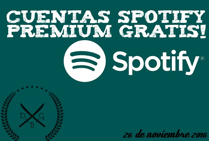 Cuentas Spotify premium Gratis: Noviembre 2016