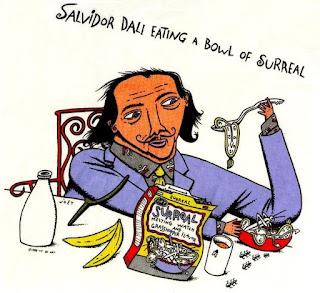 Salvador Dali Eating a Bowl of Surreal