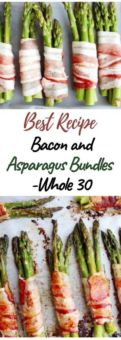 Bacon and Asparagus Bundles - Whole 30 #vegan #recipevegetarian