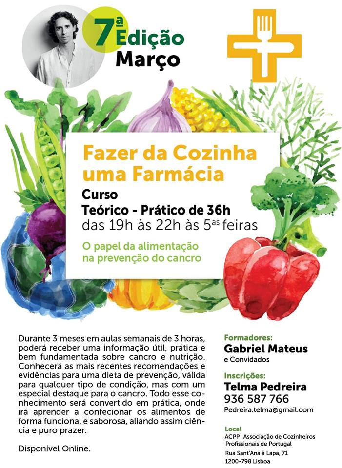 Curso – Como fazer da cozinha uma farmácia – Lisboa