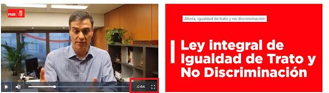 video de Pedro Sanchez promocionando la ley de derechos digitales