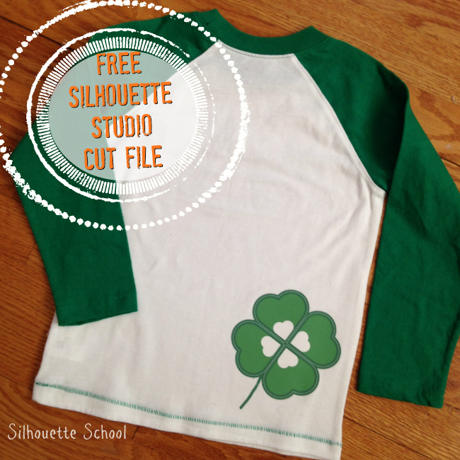 Silhouette Studio, free cut file, four leaf clover