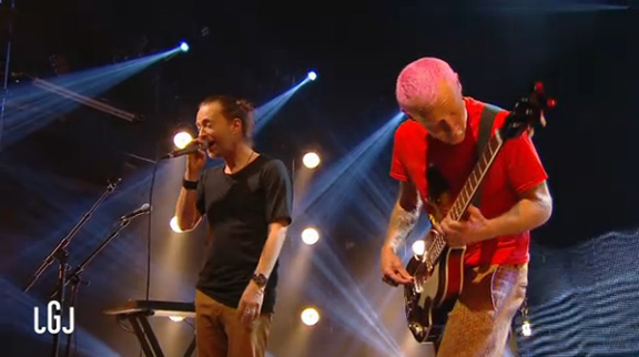"""I Want to Eat Your Artichoke Heart...""  Thom Yorke and Flea Perform ""Atoms For Peace"" on French Television"