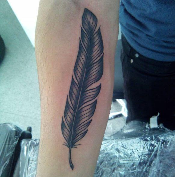 white Feather Tattoo