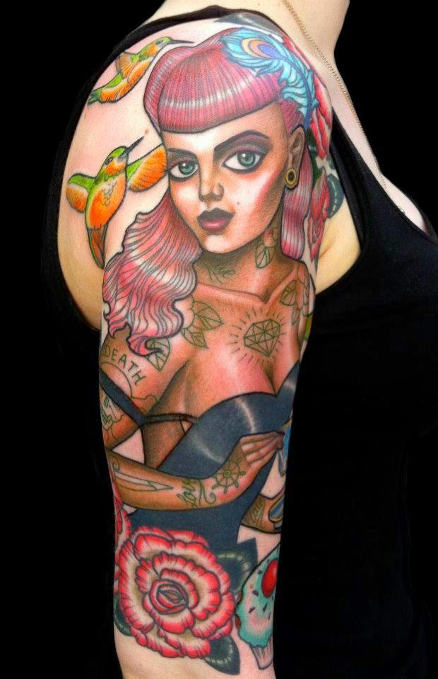 pin up girl tattoos - 661×1024