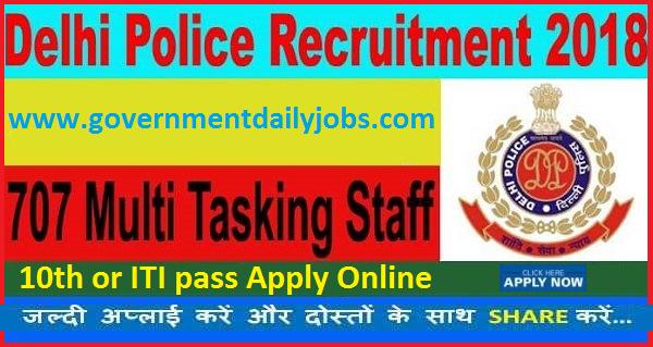 DP Recruitment 2017 Apply 707 Multi- Tasking Staff (MTS) Jobs Delhi