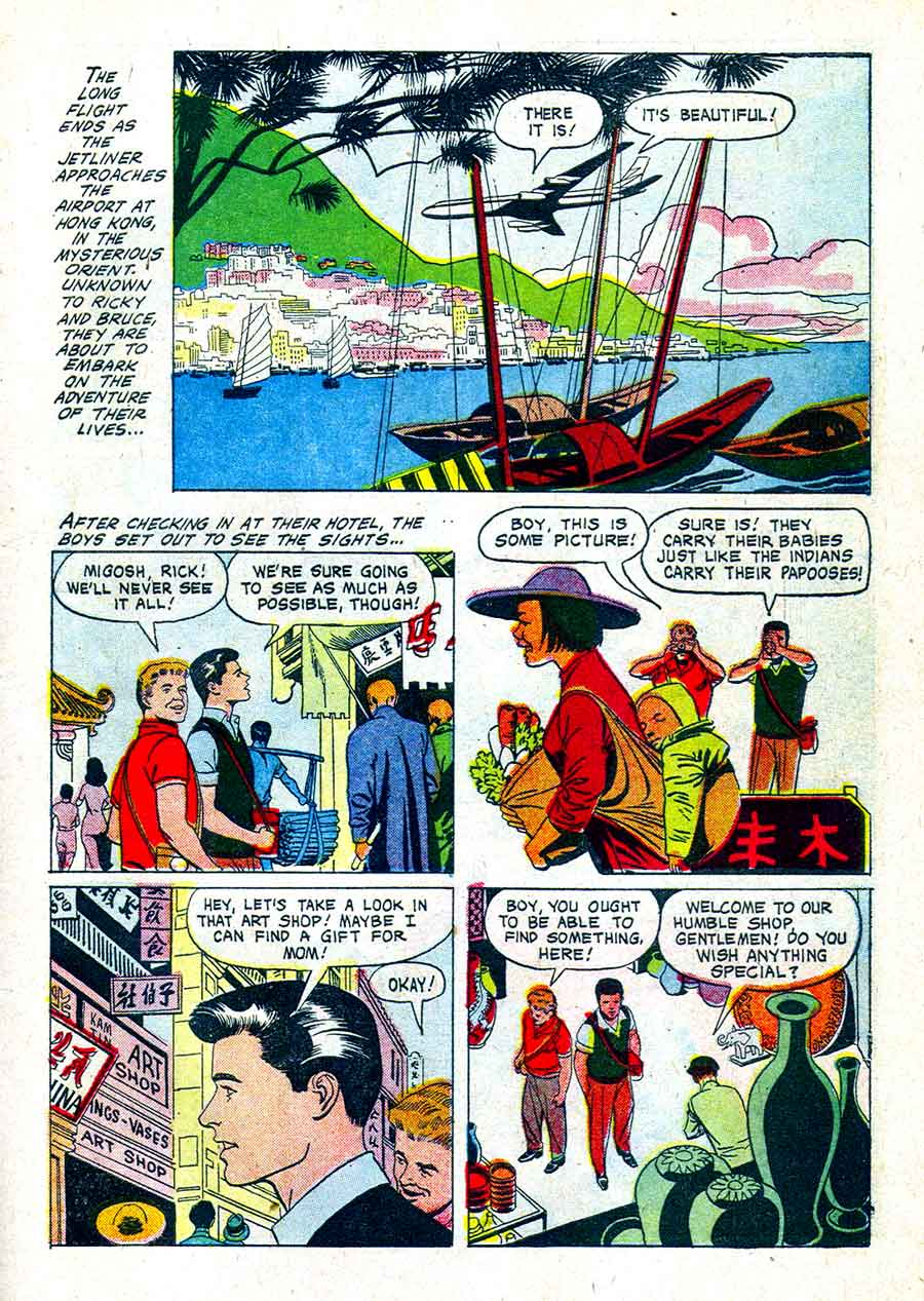 Ricky Nelson / Four Color Comics #1192 dell comic book page art by Russ Manning