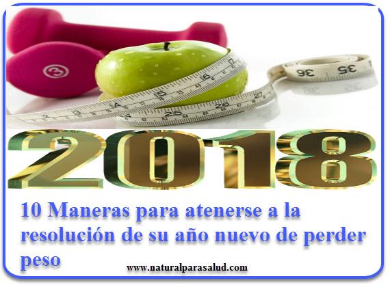10 Maneras para atenerse a la resolución de su año nuevo de perder peso