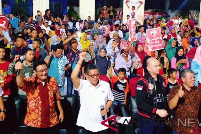 Ribuan anggota relawan Arus Bawah deklarikan dukungan untuk Jokowi-Ma'ruf