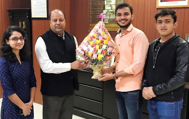 Student Union President Anoop Vashisht welcomed the Vice Chancellor Prof. Dinesh Kumar