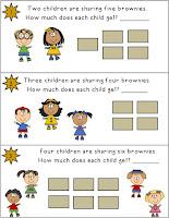 Free Brownie Sharing Task Card