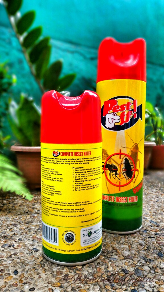Pest Off! Complete Insect Spray to prevent dengue virus
