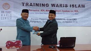 Pelatihan Waris Islam dipondok Pesantren Al-Gontory