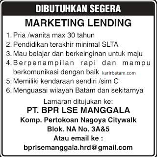 Lowongan Kerja PT. BPR LSE Manggala