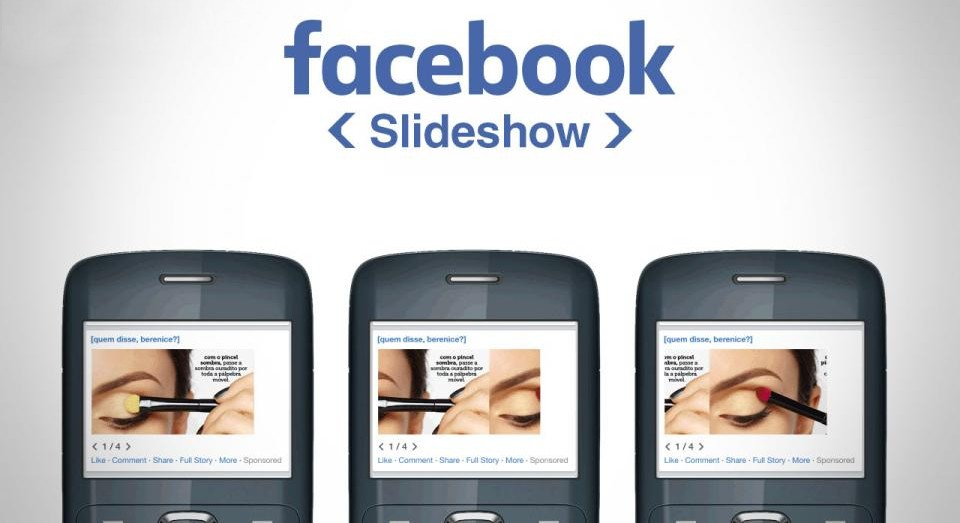 Facebook lanca Slideshow