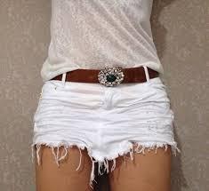 look com mini saia jeans branca