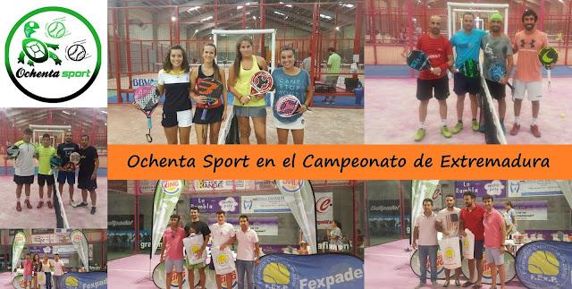 Ochenta Sport Campeonato de Extremadura de Pádel