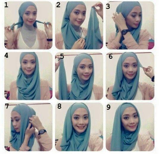 Model dan Cara Menggunakan Hijab Pashmina Simpel Praktis 3