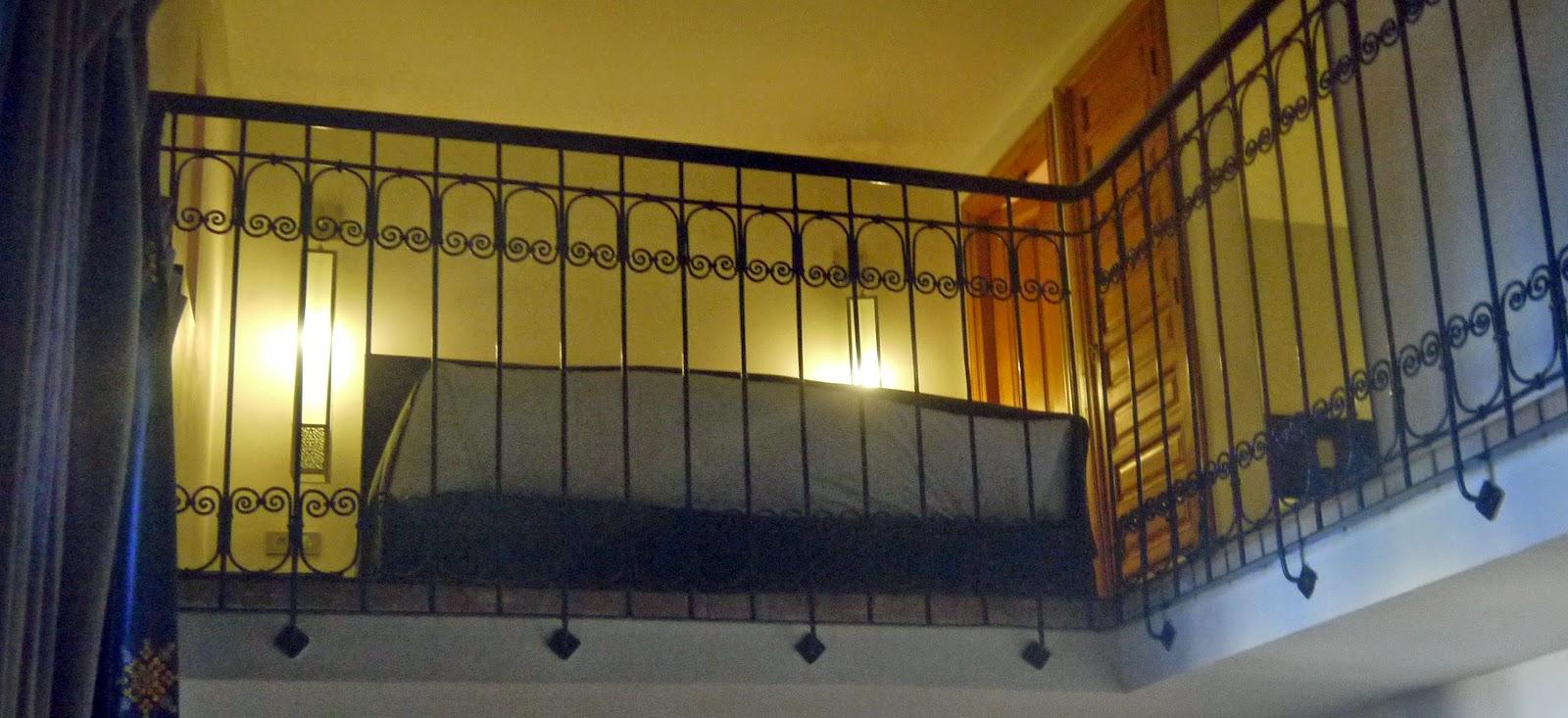 Upstairs loft bedroom Palais Amani