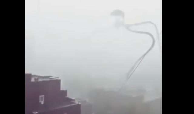 فيديو خطيــــــــر ... راحت امريكا يا جماعة ظهور مخلوق غريب يخلق الرعب وسط الساكنة