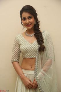 Raashi Khanan looks stunning in Crop Top Deep neck Choli Ghagra Transparent Chunni WOW ~  Exclusive Celebrities Galleries 113.JPG