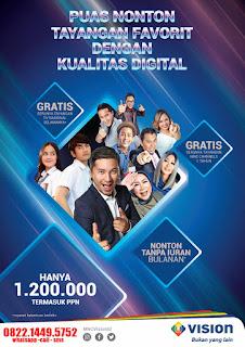 Indovision tanpa bayar bulanan MNC Vision Rantau Prapat
