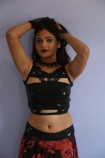 Shriya Vyas in a Tight Backless Sleeveless Crop top and Skirt 141.JPG